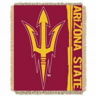 Arizona State Sun Devils Double Play Woven Throw Blanket
