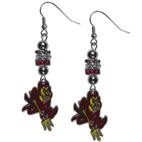 Arizona State Sun Devils Euro Bead Earrings