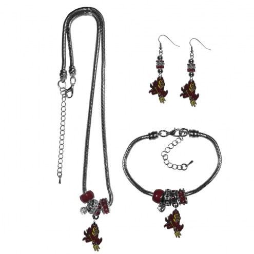 Arizona State Sun Devils Euro Bead Jewelry 3 Piece Set