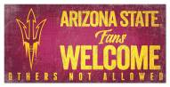 Arizona State Sun Devils Fans Welcome Sign