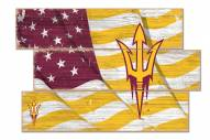 Arizona State Sun Devils Flag 3 Plank Sign