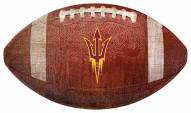 Arizona State Sun Devils Football Shaped Sign