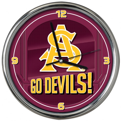 Arizona State Sun Devils Go Team Chrome Clock