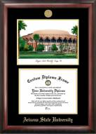Arizona State Sun Devils Gold Embossed Diploma Frame with Lithograph