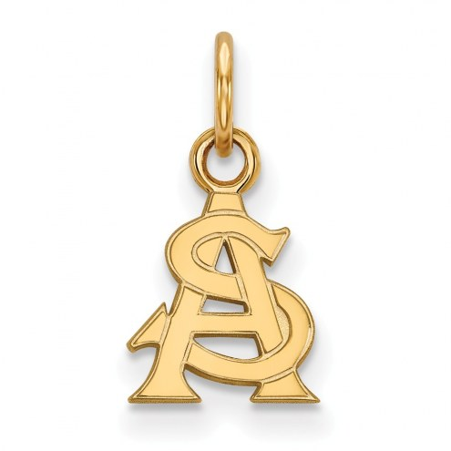 Arizona State Sun Devils Sterling Silver Gold Plated Extra Small Pendant