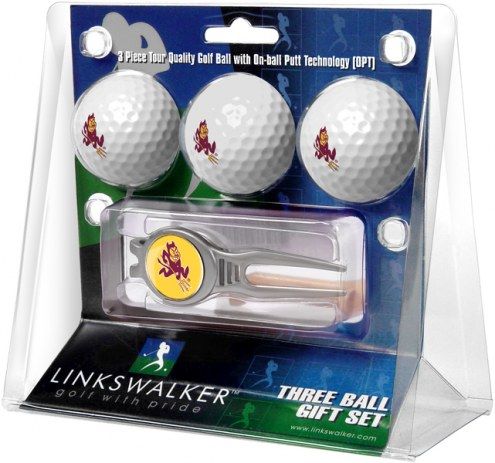 Arizona State Sun Devils Golf Ball Gift Pack with Kool Tool