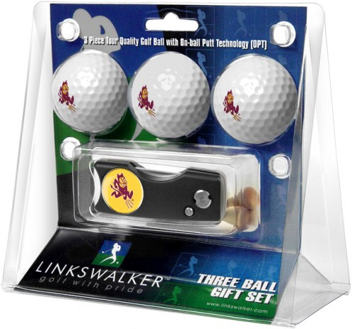 Arizona State Sun Devils Golf Ball Gift Pack with Spring Action Divot Tool