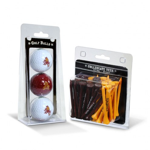 Arizona State Sun Devils Golf Ball & Tee Pack