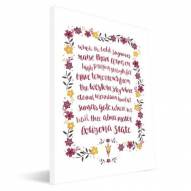 Arizona State Sun Devils Hand-Painted Song Canvas Print