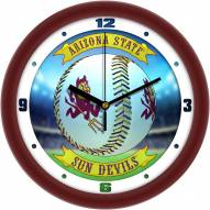 Arizona State Sun Devils Home Run Wall Clock