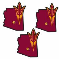 Arizona State Sun Devils Home State Decal - 3 Pack