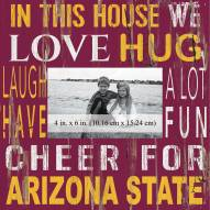 """Arizona State Sun Devils In This House 10"""" x 10"""" Picture Frame"""