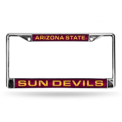 Arizona State Sun Devils Laser Chrome License Plate Frame