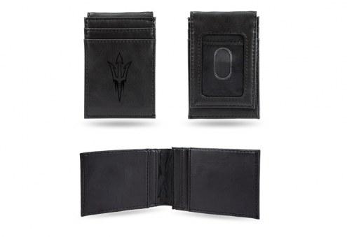 Arizona State Sun Devils Laser Engraved Black Front Pocket Wallet