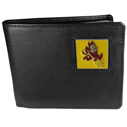 Arizona State Sun Devils Leather Bi-fold Wallet in Gift Box