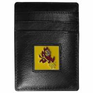 Arizona State Sun Devils Leather Money Clip/Cardholder in Gift Box