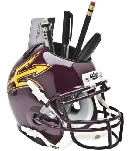 Arizona State Sun Devils Maroon Schutt Football Helmet Desk Caddy