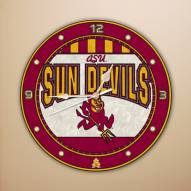 Arizona State Sun Devils NCAA Stained Glass Wall Clock
