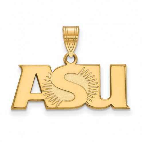 Arizona State Sun Devils NCAA Sterling Silver Gold Plated Large Pendant