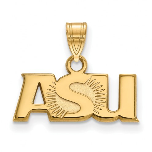 Arizona State Sun Devils NCAA Sterling Silver Gold Plated Small Pendant
