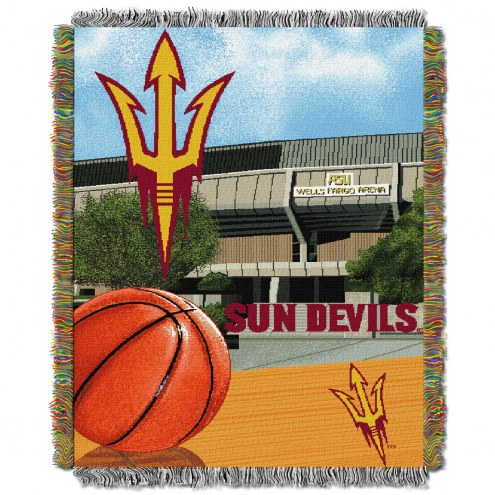 Arizona State Sun Devils NCAA Woven Tapestry Throw Blanket