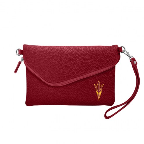 Arizona State Sun Devils Pebble Fold Over Purse