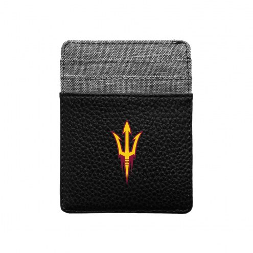 Arizona State Sun Devils Pebble Front Pocket Wallet