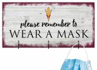 Arizona State Sun Devils Please Wear Your Mask Sign