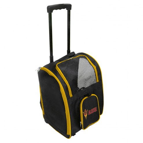 Arizona State Sun Devils Premium Pet Carrier with Wheels