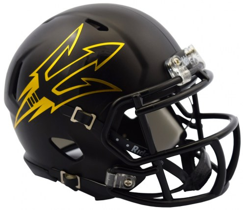 Arizona State Sun Devils Riddell Speed Mini Collectible Satin Black Football Helmet
