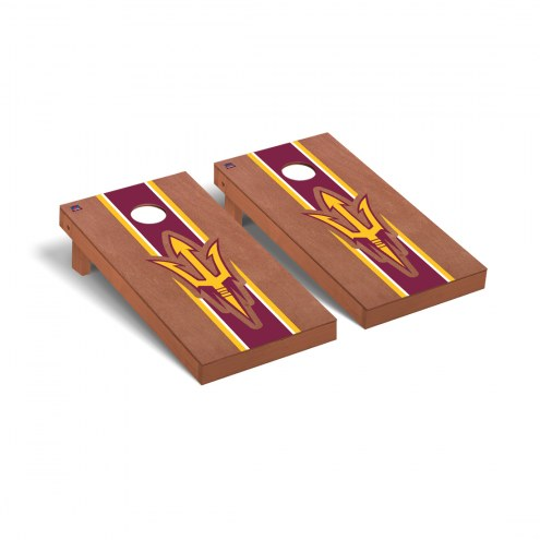 Arizona State Sun Devils Rosewood Stained Cornhole Game Set