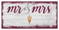 Arizona State Sun Devils Script Mr. & Mrs. Sign
