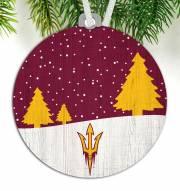 Arizona State Sun Devils Snow Scene Ornament