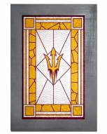 Arizona State Sun Devils Stained Glass with Frame