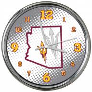 Arizona State Sun Devils State of Mind Chrome Clock