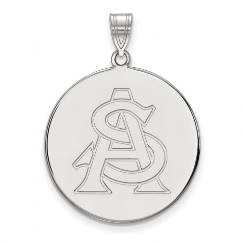 Arizona State Sun Devils Sterling Silver Extra Large Disc Pendant