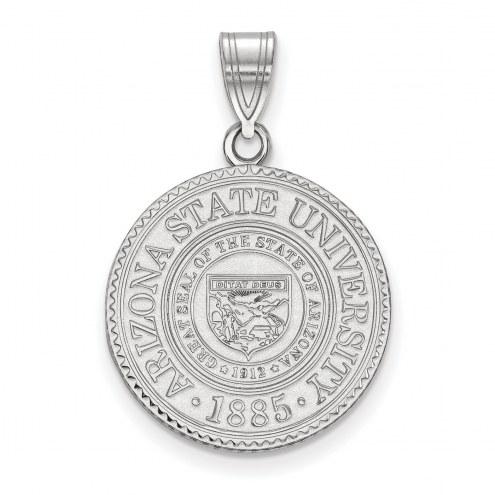 Arizona State Sun Devils Sterling Silver Large Crest Pendant