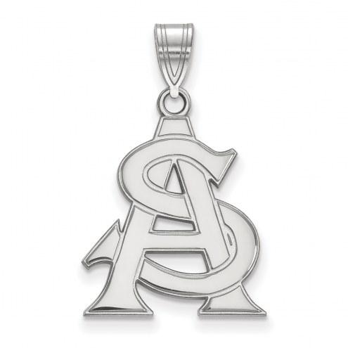 Arizona State Sun Devils Sterling Silver Large Pendant