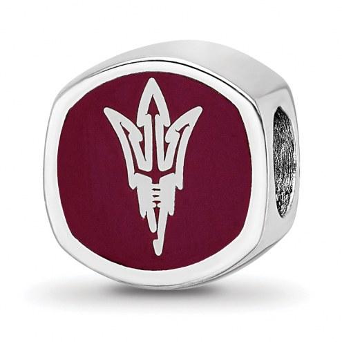 Arizona State Sun Devils Sterling Silver Logo Bead