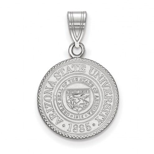 Arizona State Sun Devils Sterling Silver Medium Crest Pendant