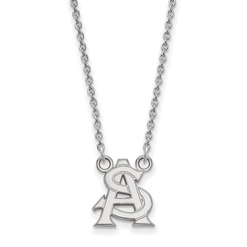 Arizona State Sun Devils Sterling Silver Small Pendant Necklace