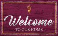 Arizona State Sun Devils Team Color Welcome Sign