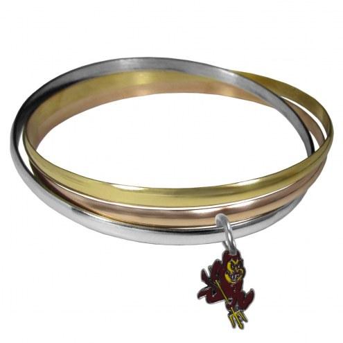 Arizona State Sun Devils Tri-color Bangle Bracelet