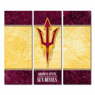 Arizona State Sun Devils Triptych Double Border Canvas Wall Art