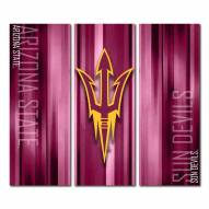 Arizona State Sun Devils Triptych Rush Canvas Wall Art