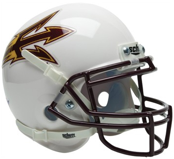 Arizona State Sun Devils White Schutt XP Collectible Full Size Football Helmet