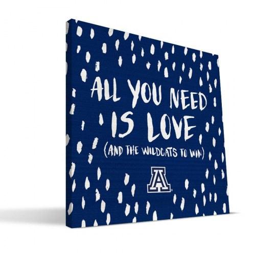 "Arizona Wildcats 12"" x 12"" All You Need Canvas Print"