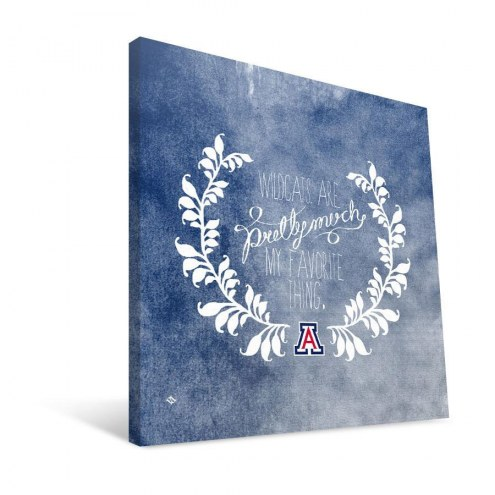 "Arizona Wildcats 12"" x 12"" Favorite Thing Canvas Print"