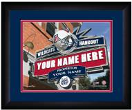 Arizona Wildcats 13 x 16 Personalized Framed Sports Pub Print