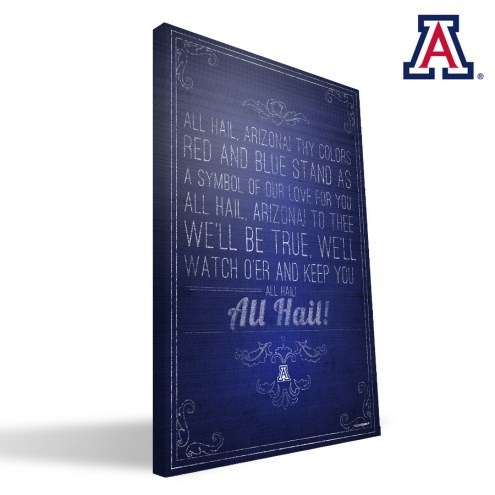 "Arizona Wildcats 16"" x 24"" Song Canvas Print"